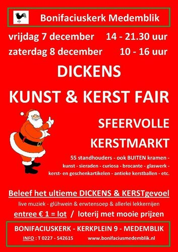 Dickens Kunst & Kerst Fair bij Bonifaciuskerk Medemblik