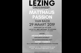 Lezing Matthäus Passion in Hoorn