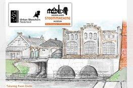 Schetsen onder stoom! Urban Sketchers Nederland naar Medemblik!