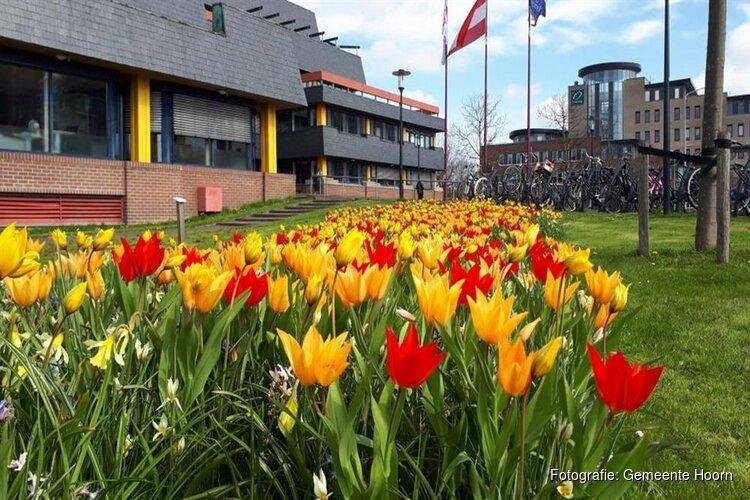 Voorjaar breekt aan bij entree stadhuis