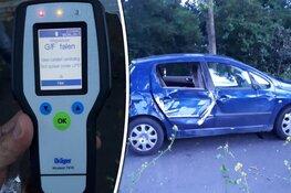 Politie houdt dronken man in zwaar beschadigde auto aan na gevaarlijk gedrag