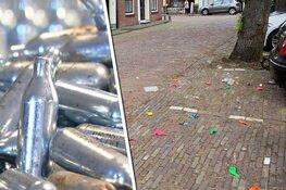 Ondanks verbod op verkoop lachgas ligt Hoorn 'bezaaid met ballonnen'