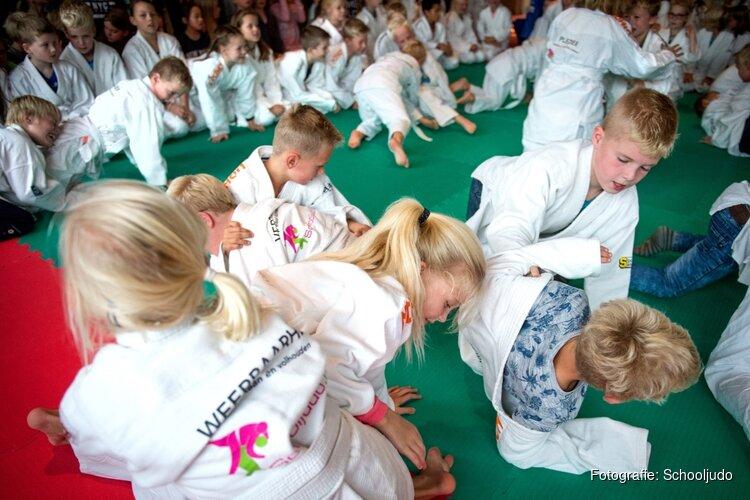 Leerlingen Het Kompas aan de slag met Schooljudo