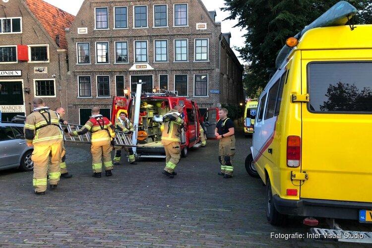 Fietser raakt te water in Hoorn
