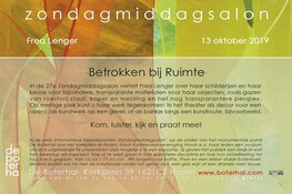 27e Zondagmiddagsalon in De Boterhal
