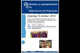 Volgend weekend Kleding- en speelgoedmarkt in Wijkcentrum De Huesmolen