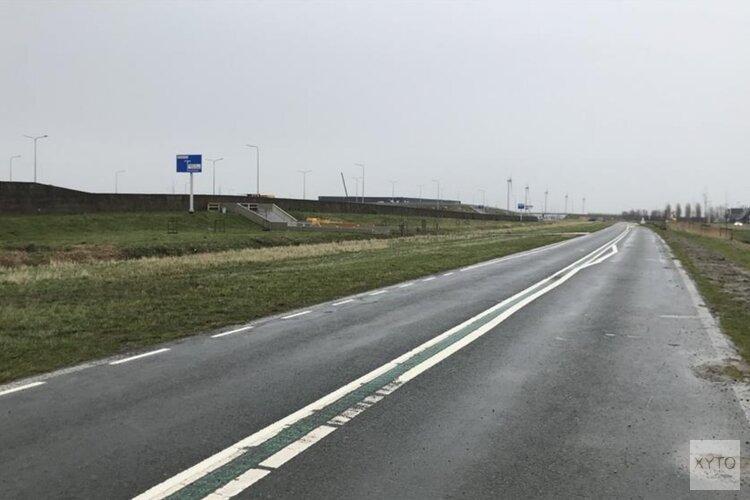 Tijdelijk fietspad naar fietstunnel Zevenhuis