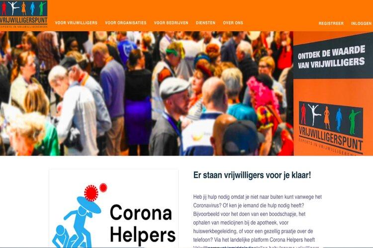 Vrijwilligerspunt heeft nieuwe website