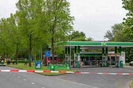 Dader raakt zelf gewond bij brandstichting tankstation