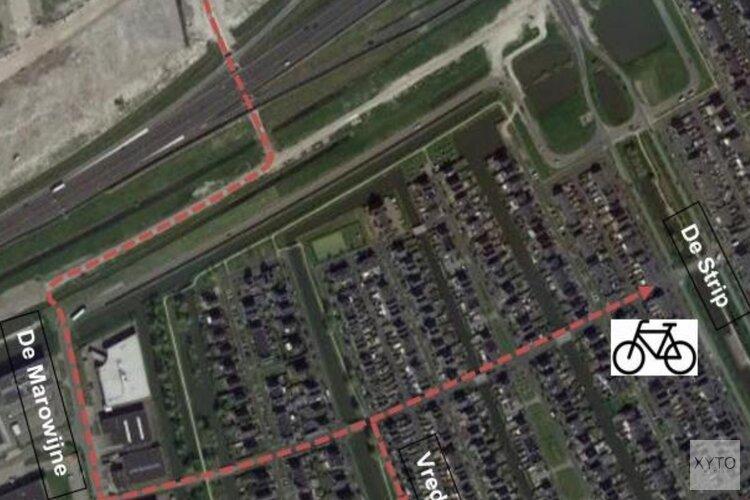 Tijdelijke fietsverbinding tussen de Bangert en Oosterpolder en Zevenhuis