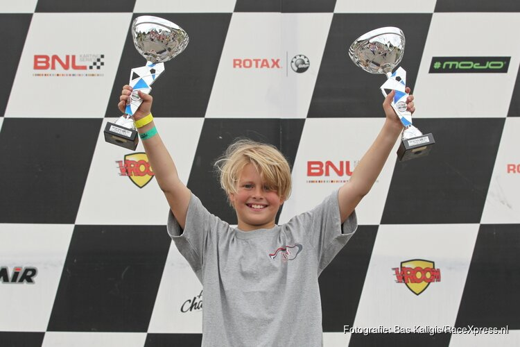 Karttalent Luca Kane Houghton uit Bahrein subliem naar de winst in Genk!