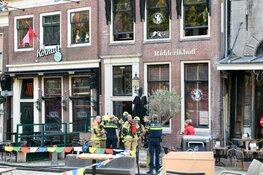 Brand bij café Ridderikhoff in Hoorn