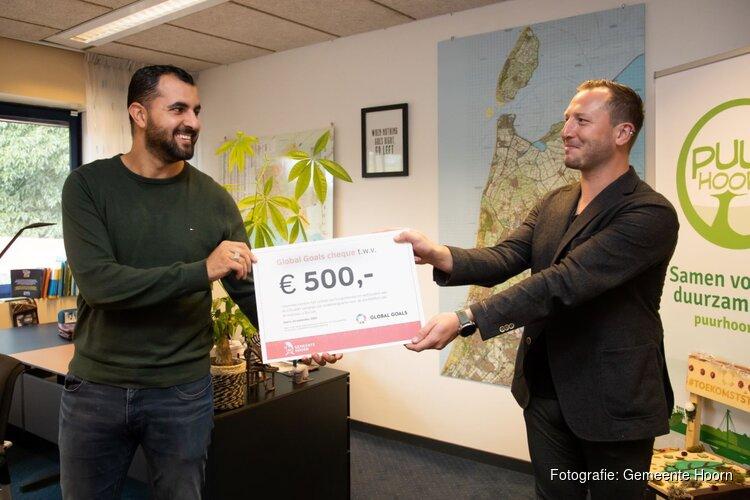 Global Goals-cheque voor Hoornse hulpverlener in Beiroet