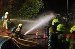 Wijk ontruimd na brand in busje