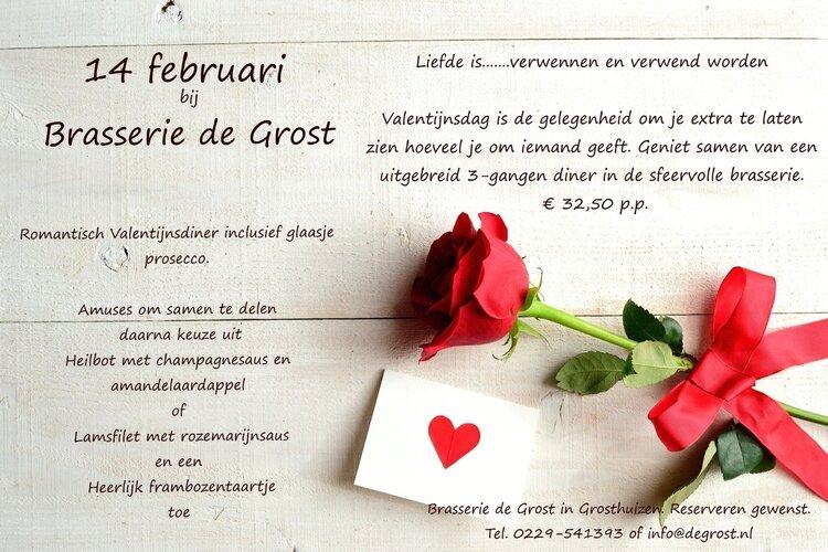 Valentijn in Brasserie de Grost