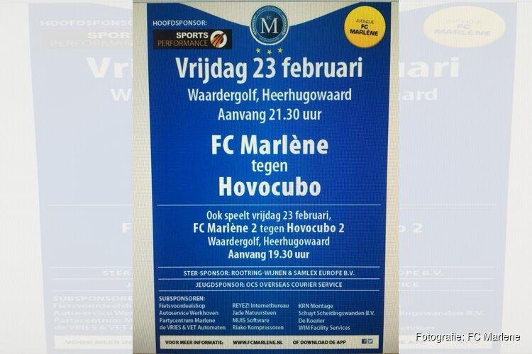 """Vrijdag 23 februari """"El Clasico"""" in de zaal: FC Marlene-Hovocubo"""