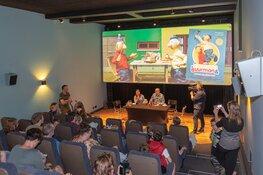 Kinderpersconferentie in museum succes