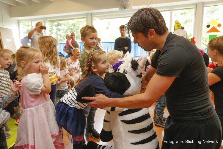 Zebra gespot in peuterspeelzaal van Stichting Netwerk