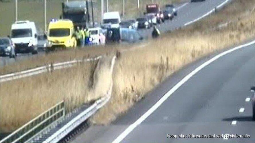 File door ongeluk op A7 bij Avenhorn